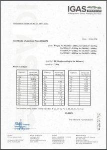 IGAS Certificate